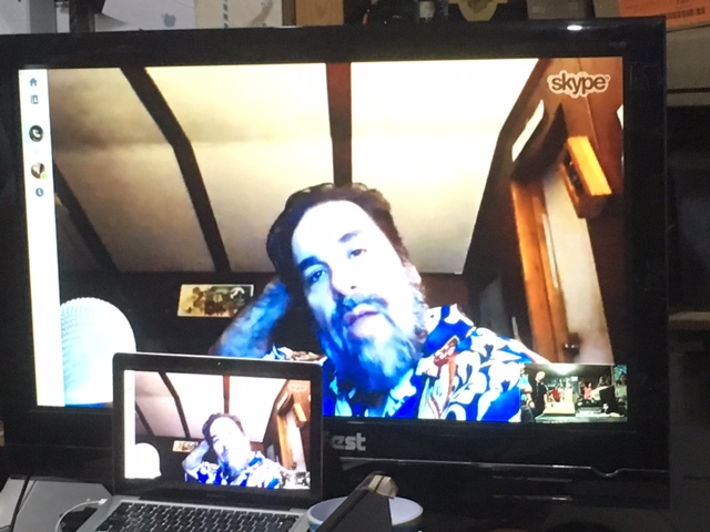 Our Skype call with Jason Scott. [Credit: Michael Mulhern]