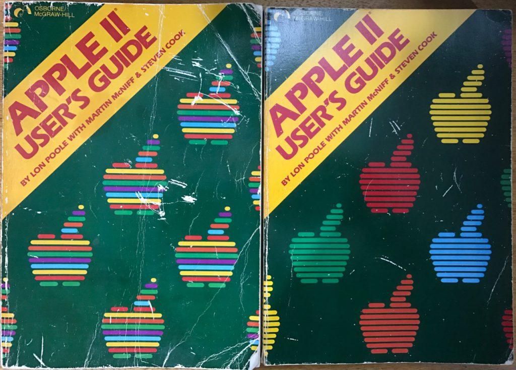 Apple II User's Guide 1st Edition Comparison